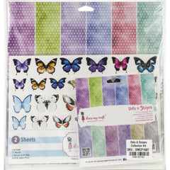 Dress My Crafts Collection Kit Bundle - Dots & Stripes