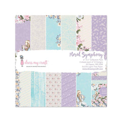 Dress My Crafts - Single-Sided Paper Pad 6X6in 24 per pack Floral Symphony