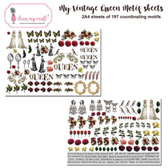 Dress My Craft Image Sheet 240gsm A4 2 pack - My Vintage Lady