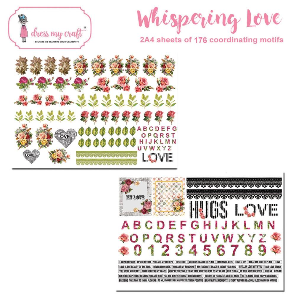 Dress My Craft Image Sheet 240gsm A4 2 pack - Whispering Love