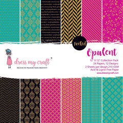 Dress My Crafts Single-Sided Paper Pad 12in X 12in 24 pack - Opulent