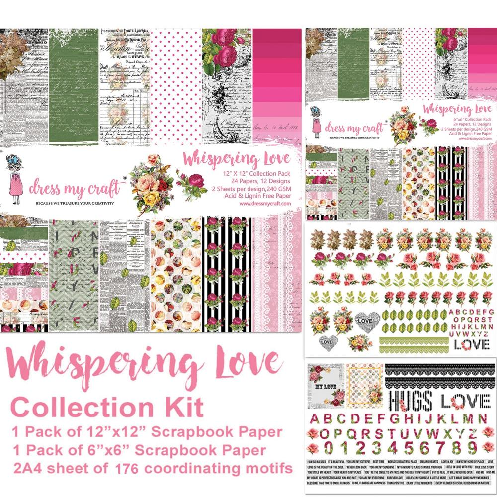 Dress My Crafts Collection Kit - Whispering Love