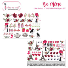 Dress My Craft Image Sheet 240gsm A4 2 pack - Be Mine