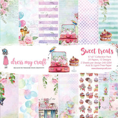 Dress My Crafts Single-Sided Paper Pad 6in X 6in 24 pack - Sweet Treats