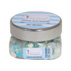 Dress My Crafts Sequins 25gms - Crystal Blue