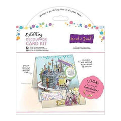 Docrafts - Roald Dahl 6Inch X6inch  Decoupage Card Kit Spliffling Factory