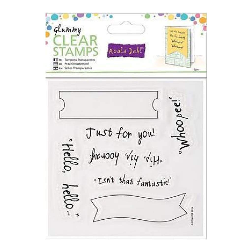 Docrafts - Roald Dahl Clear Stamps Glummy Hello Hello