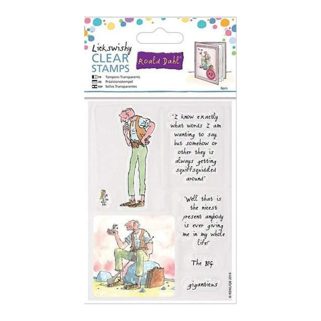 Docrafts - Roald Dahl The Big Friendly Giant Clear Stamps Lickswishy