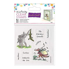 Docrafts - Roald Dahl The Enormous Crocodile/Fabtastic Mr. Fox Stamps Zippfizzing