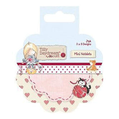 Docrafts - Tilly Daydream Mini Notelets 24 Pack  8 Round Designs/3 Each
