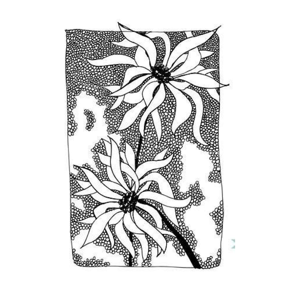 Donna Downey Cling Rubber Stamp 4 Inch X7 Inch - Windswept Petals