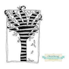 Donna Downey Cling Rubber Stamps 4 Inch X7 Inch  Striped Tree Of Life