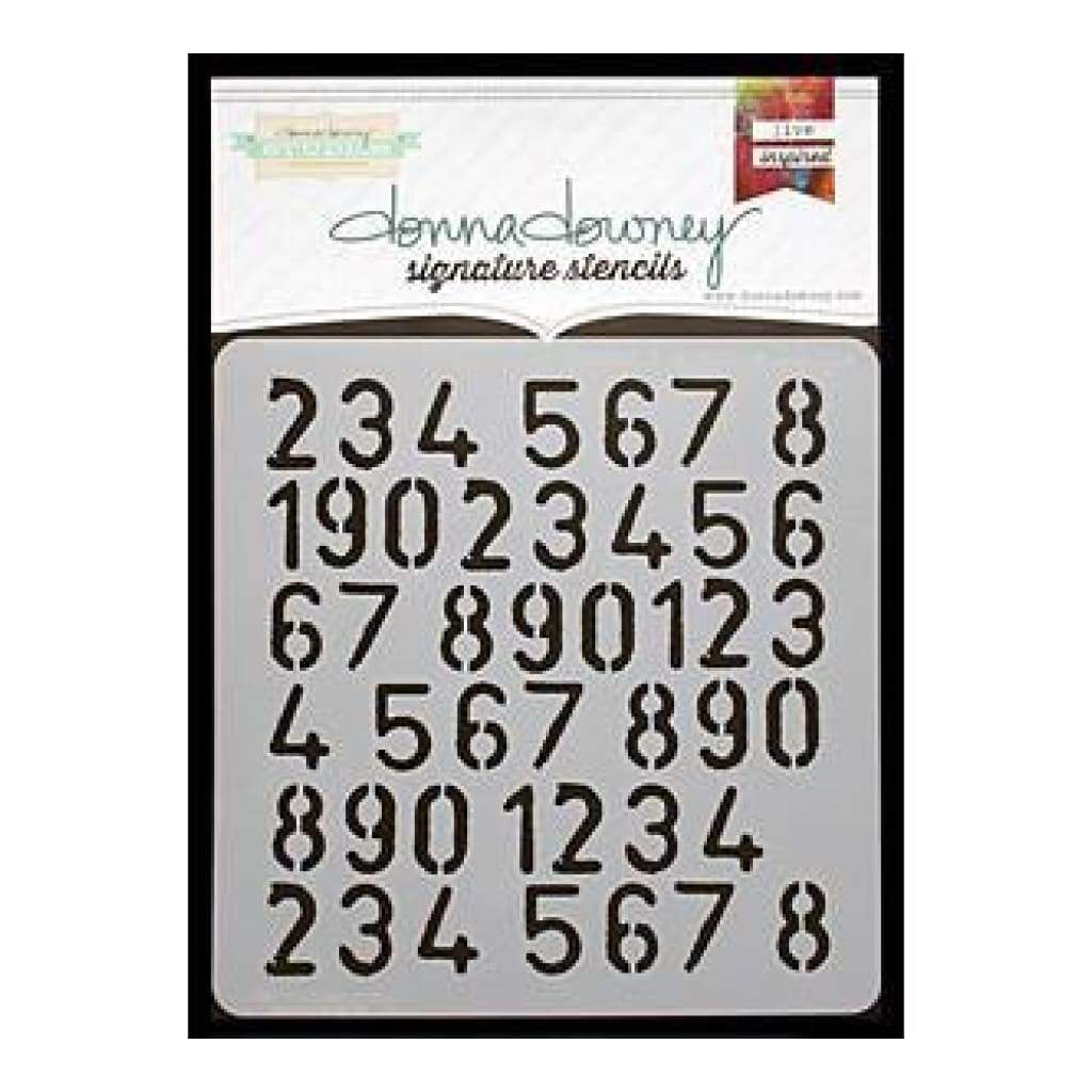 Donna Downey Signature Stencils 8.5In.X8.5In. - Numbers Repeat