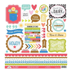 Doodlebug Cardstock Stickers 12 inch X12 inch - Down On The Farm This & That