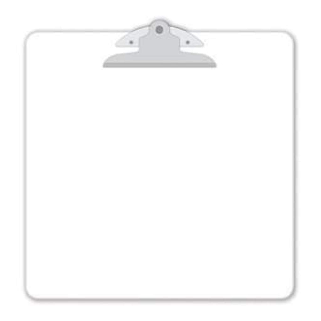 Doodlebug Clipart Monochromatic Clipboard 13.5 Inch X13.5 Inch  - Lily White