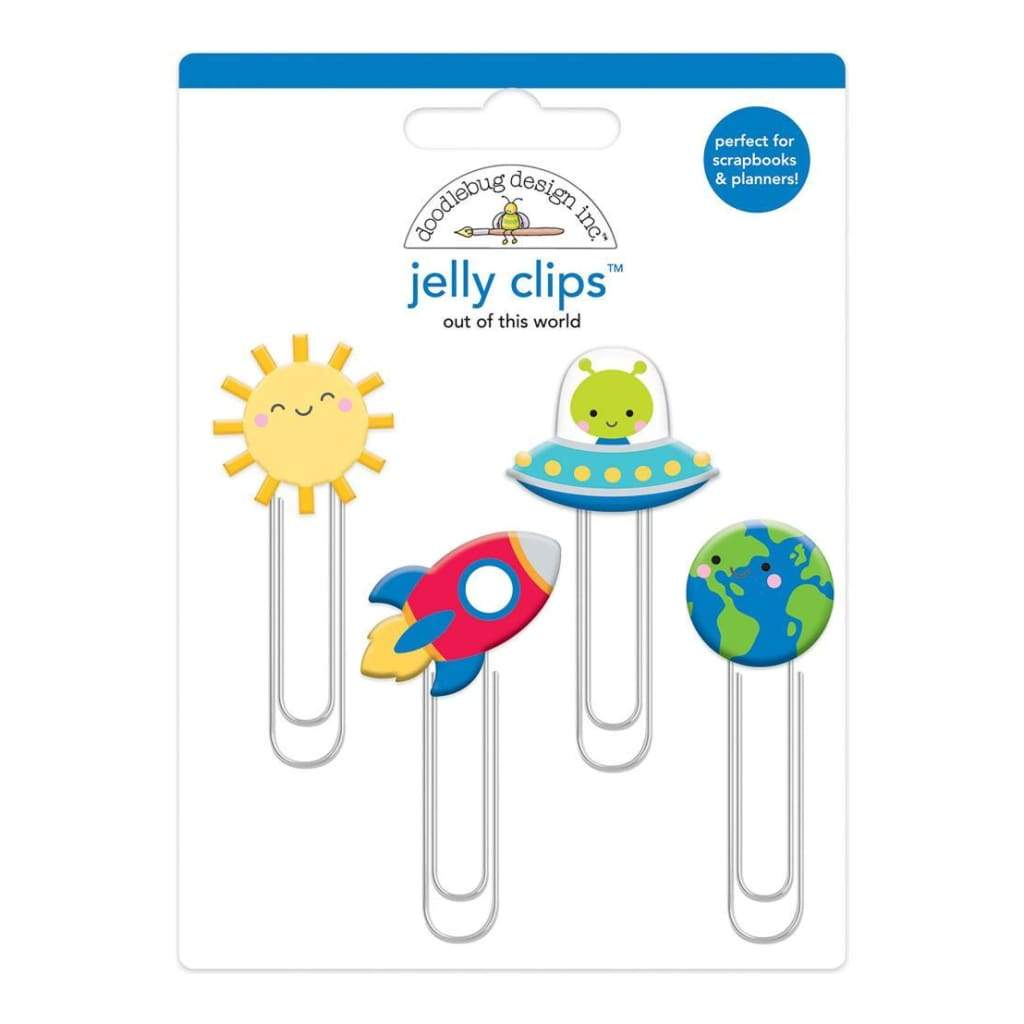 Doodlebug Jelly Clips 4 pack Out Of This World