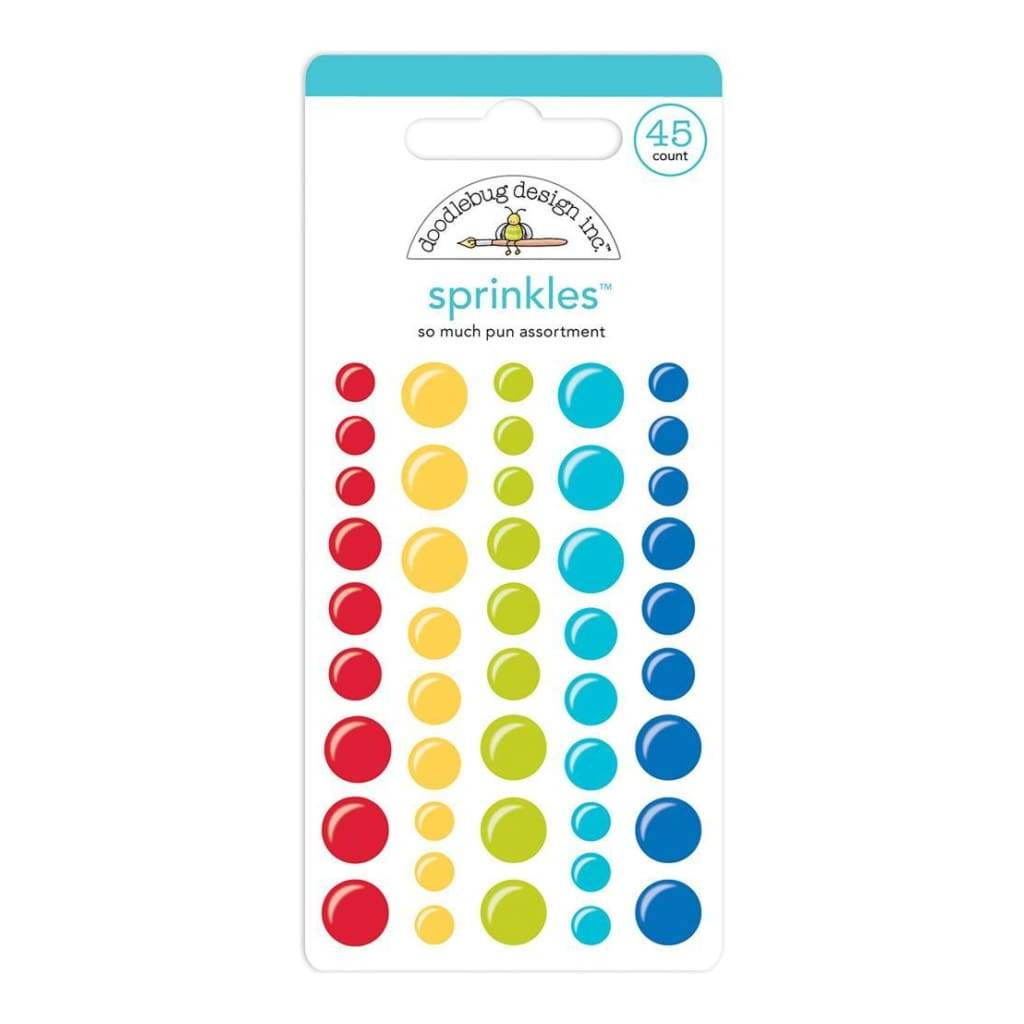Doodlebug - Sprinkles Adhesive Matte Enamel Dots 45 pack So Much Pun