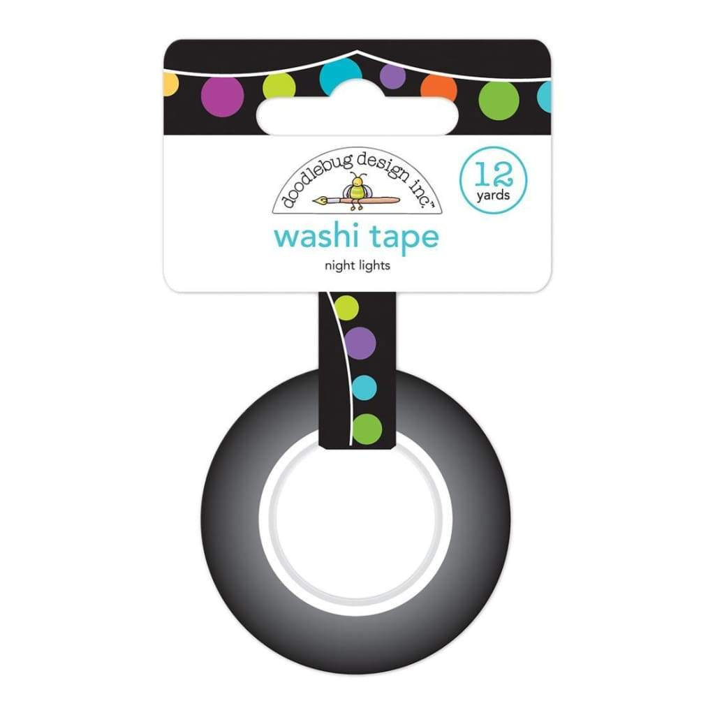 Doodlebug Washi Tape 15mmX12yd Night Lights