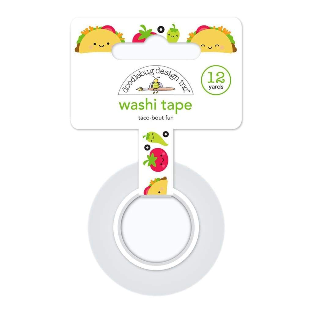 Doodlebug - Washi Tape 15mmx12yd Taco-Bout Fun
