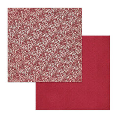 BoBunny - Double Dot Lace Double-Sided Cardstock 12X12in - Cranberry