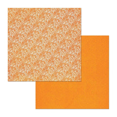 BoBunny - Double Dot Lace Double-Sided Cardstock 12X12in - Pumpkin
