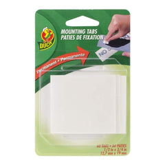 Double-Sided Mounting Tabs White .5 inch X.75 inch 60/Pkg