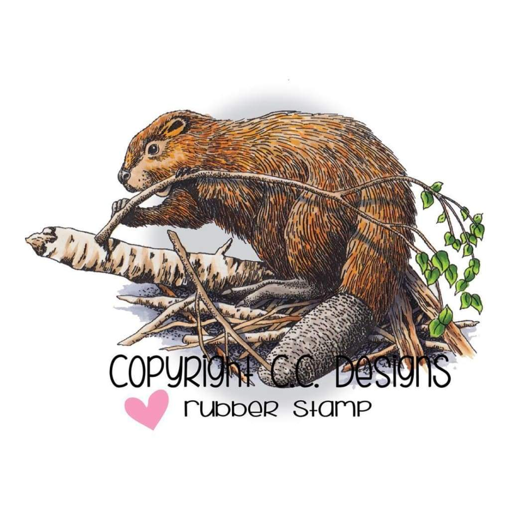 Doveart Cling Stamp 2.5 inch X4.25 inch Beaver