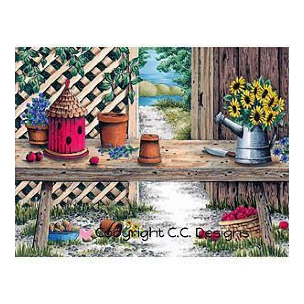 Doveart Cling Stamp 5.25 Inch X4 Inch Garden Bench