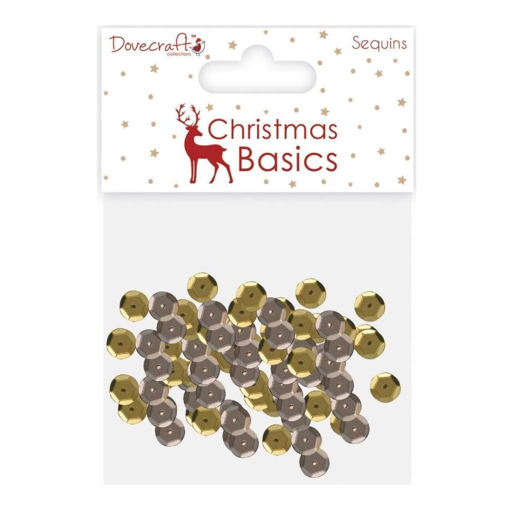 Dovecraft Christmas Basics Sequins Gold & Silver