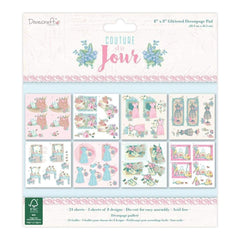 Dovecraft Couture du Jour Decoupage Pad 8X8 24 pack 8 Designs/3 Each
