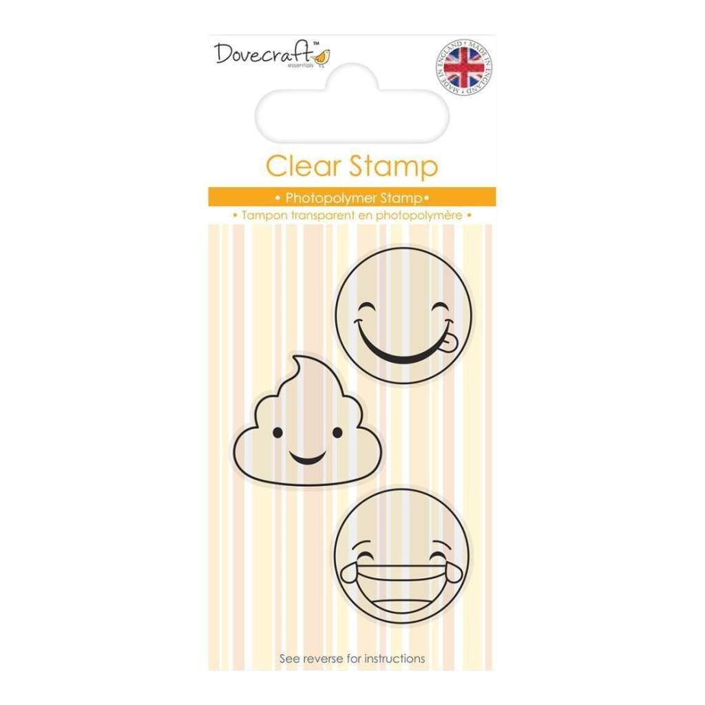 Dovecraft Smiley Clear Stamp Laughing