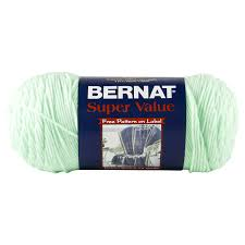 Bernat Super Value Solid Yarn - Mint - 7oz (197g) 426yd