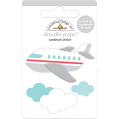 Doodlebug - Doodle-Pops 3D Stickers Jet Set - I Heart Travel