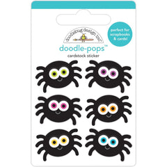 Doodlebug - Doodle-Pops 3D Stickers - Silly Spiders - Candy Carnival