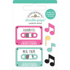 Doodlebug Doodle-Pops 3D Stickers - Our Song, Love Notes