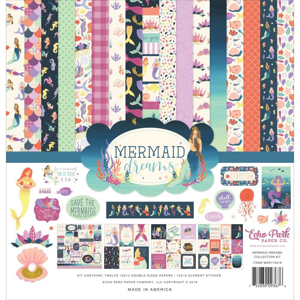 Echo Park Collection Kit 12 inch X12 inch Mermaid Dreams