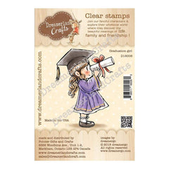 Dreamerland Crafts Clear Stamp Set 2.5 inch X3.25 inch - Graduation Girl