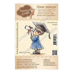 Dreamerland Crafts Clear Stamp Set 2.5 inch X3 inch - Graduation Boy