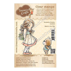 Dreamerland Crafts Clear Stamp Set 2.75 inch X3.75 inch - Romantic Flowers
