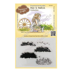 Dreamerland Crafts Mix & Match Clear Stamp Set 4 inch X3 inch - Flower Beds