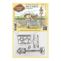 Dreamerland Crafts Mix & Match Clear Stamp Set 4 inch X3 inch - Mail Box & Wall
