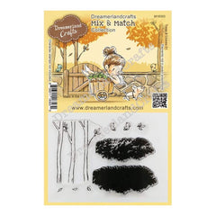 Dreamerland Crafts Mix & Match Clear Stamp Set 4 inch X3 inch - Trees & Leaves 01