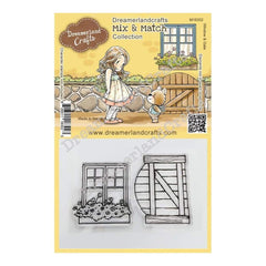 Dreamerland Crafts Mix & Match Clear Stamp Set 4 inch X3 inch - Window & Gate