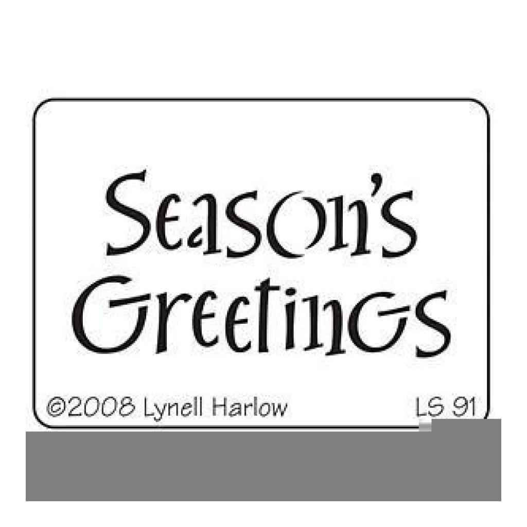 Dreamweaver Metal Stencil 4 Inch X6.875 Inch Seasons Greetings