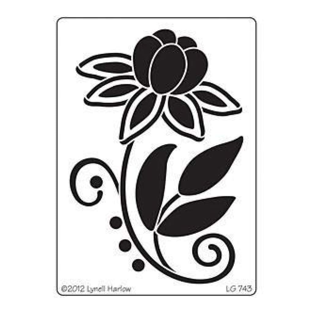 Dreamweaver Metal Stencil 4In. X6.75In.  Stylized Dahlia