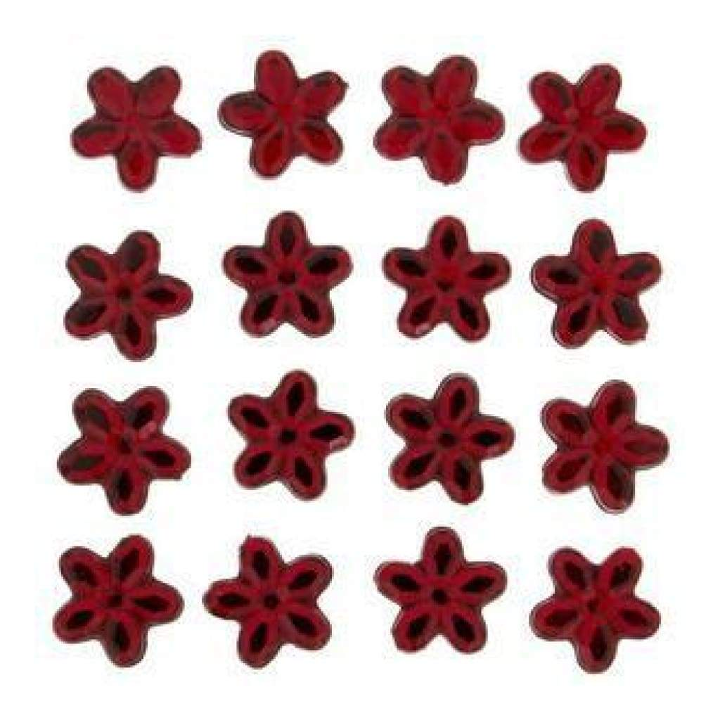 Dress It Up Embellishments - Red Petals 10Mm