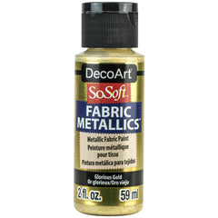 SoSoft Fabric Acrylic Metallic Paint 2oz - Glorious Gold