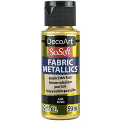 SoSoft Fabric Acrylic Metallic Paint 2oz - Gold