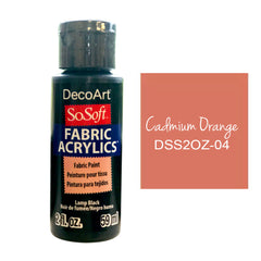 Deco Art - SoSoft Fabric Acrylic Paint 2oz - Cadmium Orange Hue