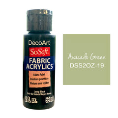 Deco Art - SoSoft Fabric Acrylic Paint 2oz - Avocado Green